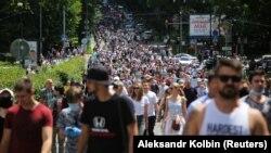 Шествие в Хабаровске в поддержку арестованного губернатора Хабаровского края Сергей Фургала