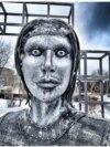 RUSSIA – art object Alenka in Novovoronezh, collage