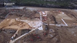 Drone Footage Shows Rushed Construction Of Russian Hospital For COVID-19 Cases