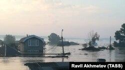 Тулун после наводнения, июнь 2019 года