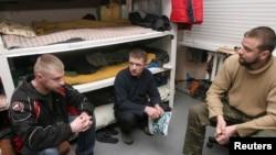 Украинские пленники в Дебальцево