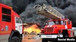 """Пожар в ТЦ """"Адмирал"""" в Казани, фото Татар-Информ"""