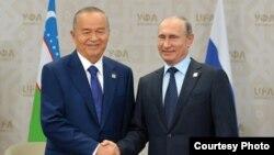 Встреча Ислама Каримова и Владимира Путина в Уфе, 2015 год
