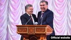 Президенты Узбекистана и Таджикистана