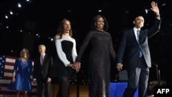 Барак Обама и его дочь Малия