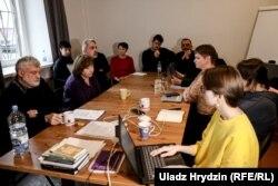 Заседание совета ПЕН-центра, по результатам которого исключили Павла Северинца. 29 октября 2019 года