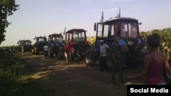 Farmers go on tractors to Moscow -- Krasnodar region