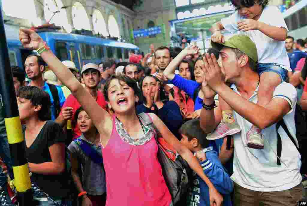 Недовольство беженцев переросло в массовые протесты, после которых железнодорожное сообщение восстановили