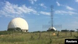 Радары на военной базе недалеко от Феодосии