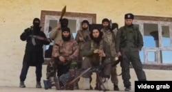 Таджикские боевики в Сирии или в Ираке, фото из Одноклассников