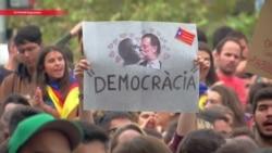 Каталония протестует: люди вышли на улицы, протестуя против действий полиции на референдуме