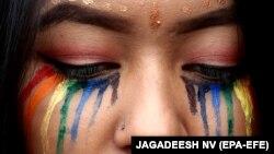 Участница гей-прайда в Бангалоре