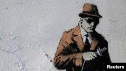 Одно из граффити Бэнкси