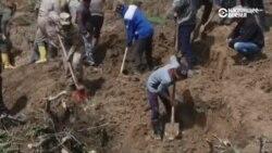 В селе Аю на юге Кыргызстана продолжаются спасательные работы после оползня