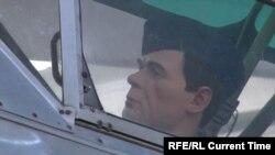 Макет самолета Пауэрса со скульптурой летчика в кабине в музее в Екатеринбурге