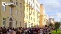 Задержания в Беларуси. Сотни людей вышли в поддержку независимых кандидатов