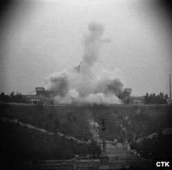 Взрыв монумента в 1962 году