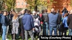 Акция в поддержку Елены Левченко в Минске. 30 сентября 2020 года