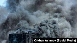 Баку: пожар возник из-за облицовки здания