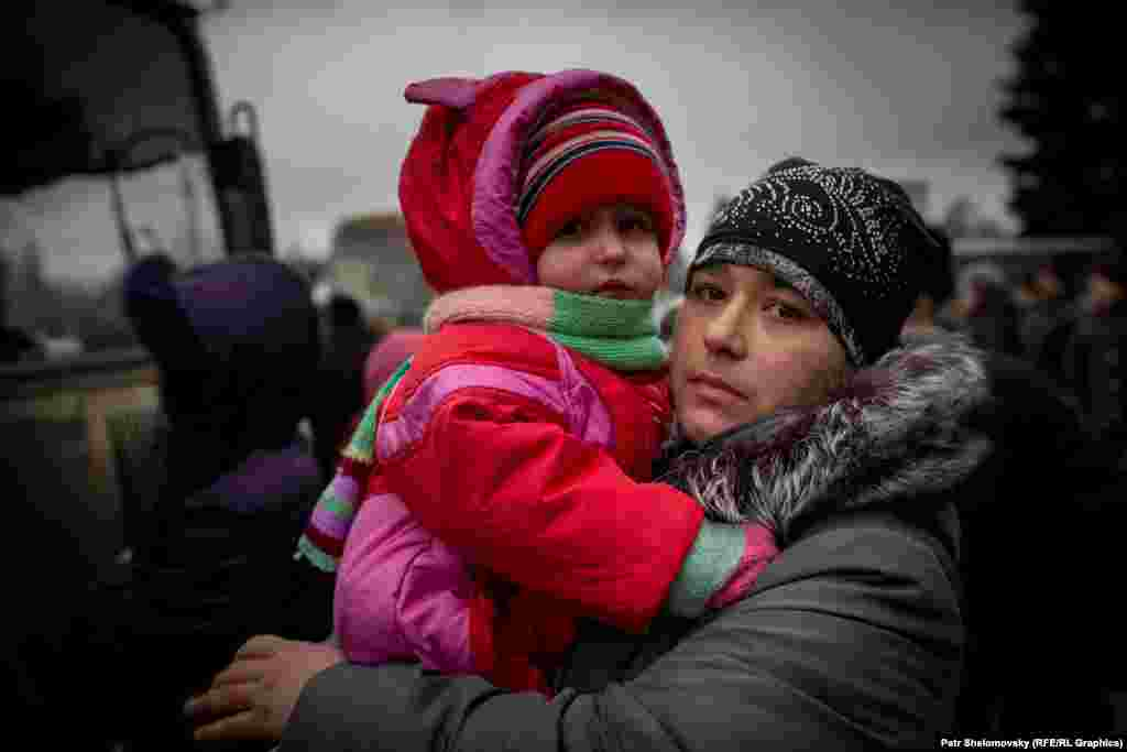 Екатерина с ребенком ждут эвакуации