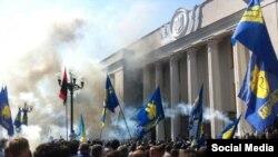 Столкновения у Верховной Рады 31 августа