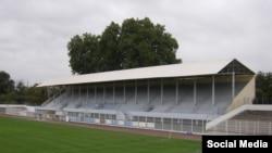 Стадион Sauclières в Безье, Франция, где полиция обнаружила взрывчатку