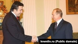 Путин и Саакашвили в 2004 году