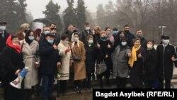 Акция юристов и адвокатов в Алматы, 13 марта 2021
