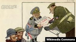 """Карикатура на Тито в журнале """"Крокодил"""""""