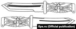 Нож с рукояткой в виде эмблемы ГРУ, запатентованный Андреем Аверьяновым