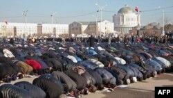 Массовая молитва в Грозном, Чечня