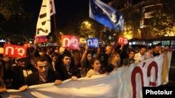 Марш против внесения изменений в Конституцию в Ереване 2 октября 2015 года
