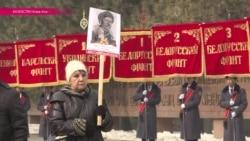 """""""Нас миллионы"""": в Алма-Ате маршируют """"панфиловцы"""""""