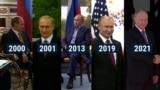Putin meets USA presidents