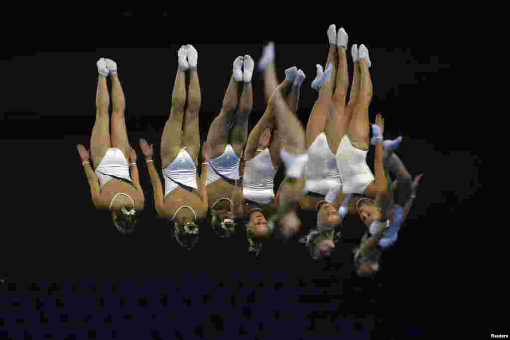 Южная Корея. Инчхон. 17-е Азиатские Игры. Выступление Екатерины Хилько (Узбекистан) на соревнованиях по спортивной гимнастике. 26 Сентября 2014.