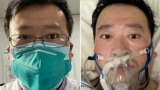 CHINA -- A combo pgoto shows Chinese coronavirus whistleblowing doctor Li Wenliang whose death was confirmed on February 7 at the Wuhan Central Hospital
