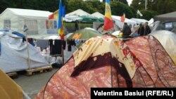 Лагерь протеста в Кишиневе