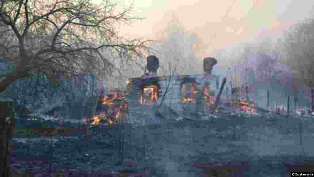 Пожар в Зоне отчуждения вокруг Чернобыльской АЭС