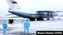 Прибытие российских туристов из китайского Уханя в Тюмень