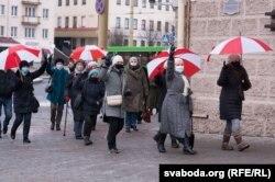 Марш пенсионеров в Гродно 14 декабря