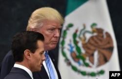 Дональд Трамп с президентом Мексики Энрике Пенья Ньето, 31 августа 2016