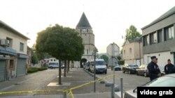 Церковь в Сент-Этьене, где произошло убийство