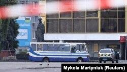 Захваченный автобус в Луцке
