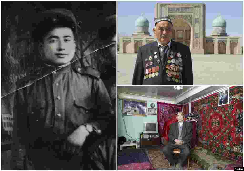 Узокбой Ахраев, 91. Узбекский офицер, служивший в артиллерии Советской Армии с января 1943 по май 1950. Участвовал в Штурме Берлина