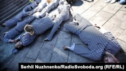 Акция в поддержку Олега Сенцова в Киеве