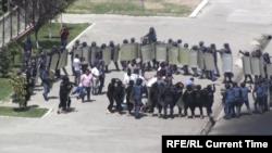 Учения по разгону протестов в Самарканде в 2018 году