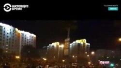 В Минске автозак таранит протестующих
