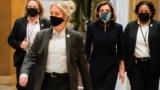 U.S. House Speaker Nancy Pelosi (D-CA) walks to the House Chamber, as Democrats debate one article of impeachment against U.S. President Donald Trump at the U.S. Capitol, in Washington, U.S. January 13, 2021.