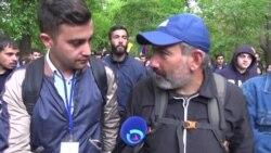 """Организатор протестов в Армении Никол Пашинян: """"призываем полицию не защищать премьера Саргсяна"""""""