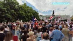 В мире прошли акции солидарности с протестующими в Беларуси
